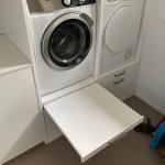 wasmachine kast met spoelbak